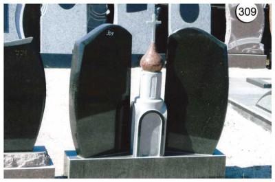 Двойной стандартный памятник с церковью №309