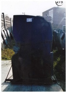 Стандартная черная стелла из гранита №275