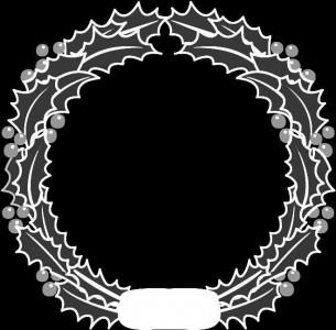 Гравировка виньетки в виде лаврового венка ВН4