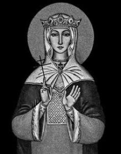 Гравировка иконы Святой Людмилы ИК-11