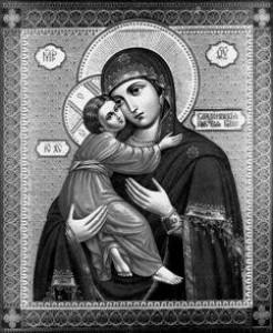 Гравировка иконы Владимерской Божьей Матери ИК-14