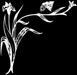 Гравировка в виде цветов на уголке У10