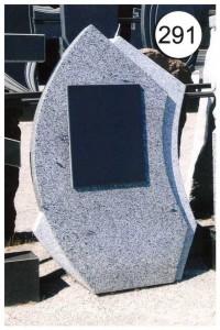 Стандартный дизайн серой стеллы памятника №291