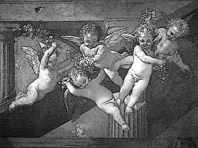 Гравировка маленьких ангелочков К2