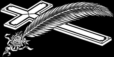 Гравировка крестика с пером КР19