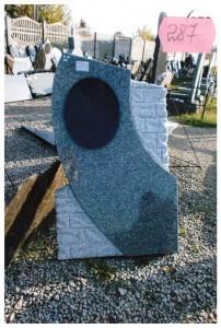 Стандартная резная стелла серого цвета №287
