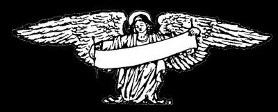 Гравировка ангела с полотном РС2