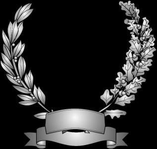 Гравировка виньетки с лентой ВН11