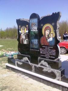 Элитный надгробный памятник обратная сторона