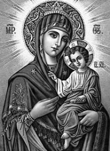 Гравировка иконы Иверской Божьей Матери для памятника ИК-3