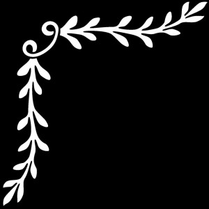 Гравировка ветки в уголке У5