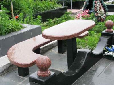 Формы столов и лавочек для памятников