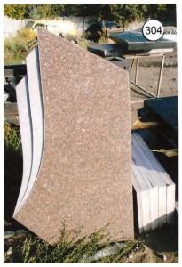 Стандартная резная стелла из красного гранита №304