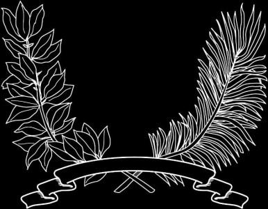 Гравировка виньетки с ветвями ВН15