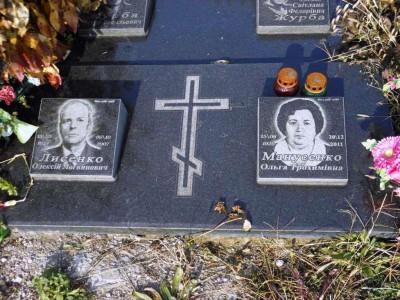Семейный надгробный памятник эконом класса фото